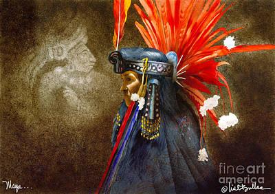 Mayan Painting - Maya... by Will Bullas
