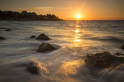 Mayan Coastal Sunrise Print by Adam Romanowicz