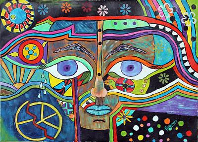 Mayan Grafitti Original by Stephen Harrelson