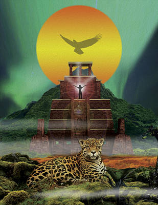 Mayan Jaguar Extinction Is Forever Print by John Fronza