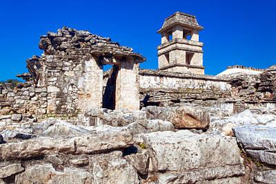 Maya Photograph - Mayan Ruins Of The Palacio At Palenque by Mark E Tisdale