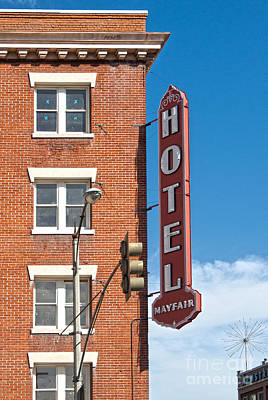 Mayfair Hotel - Pomona California Print by Gregory Dyer
