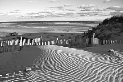 Mayflower Beach Black And White Original by Amazing Jules