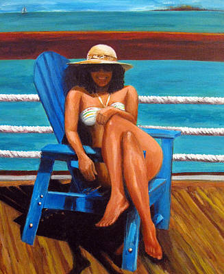 A Hot Summer Day Painting - Mayi Caribe - I Wish You Were Here by Patricia Awapara