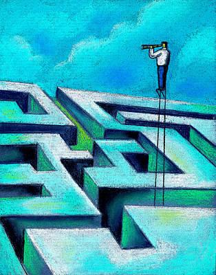 Maze Painting - Maze by Leon Zernitsky