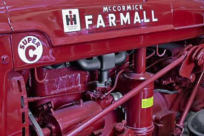 Granger Photograph - Mc Cormick Farmall Super C by Susan Candelario