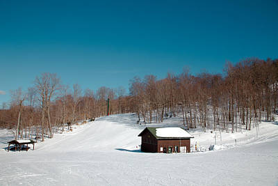 Mccauley Mountain Ski Area - Old Forge New York Print by David Patterson