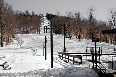 Mccauley Mountain Ski Area Vi- Old Forge New York Print by David Patterson