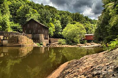 Grist Mill Photograph - Mcconnells Mill Landscape by Adam Jewell