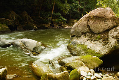 Stream Photograph - Mcconnells Mills Rocks 3 by Pittsburgh Photo Company