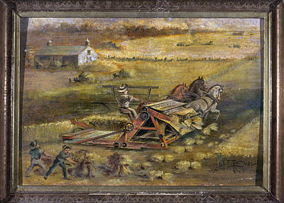 Maine Farmhouse Painting - Mccormick Reaper, 1884 by Granger