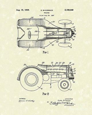 Mccormick Tractor 1939 Patent Art Print by Prior Art Design