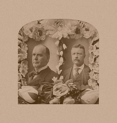 Inauguration Photograph - Mckinley And Roosevelt by War Is Hell Store