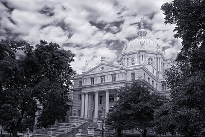 Mclennan County Courthouse Print by Joan Carroll