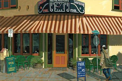 Tavern Painting - Mcmenamin's Tavern by John Wyckoff