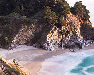 Turquoise Photograph - Mcway Falls Big Sur California by Priya Ghose