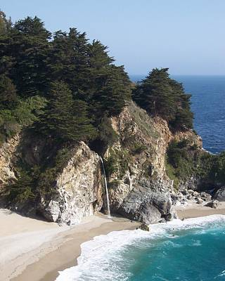 Waterfall Photograph - Mcway Falls In Big Sur by David Lobos