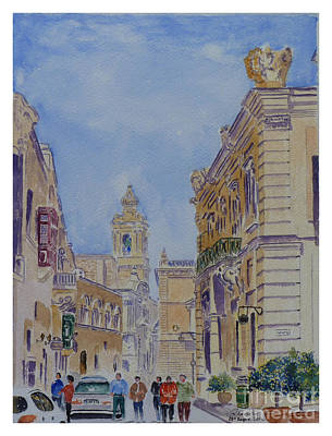 Mdina Malta Print by Godwin Cassar