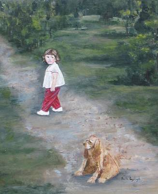 Cocker Spaniel Painting - Me And Pudgy by Paula Pagliughi
