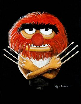 Muppets Painting - Me Animal Bub by Al  Molina