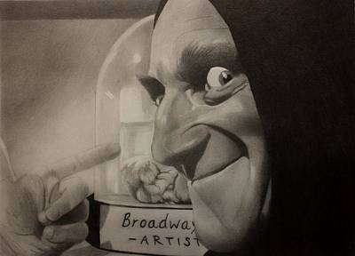Frankenstein Drawing - Me Brain And Igor by Brian Broadway