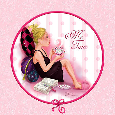 Girls Mixed Media - Me Time by Shari Warren