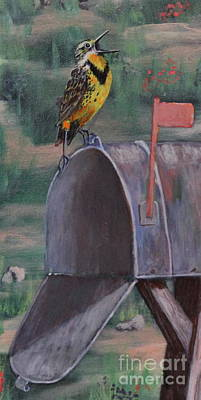 Meadowlark Drawing - Meadow Soloist II by Bob Williams