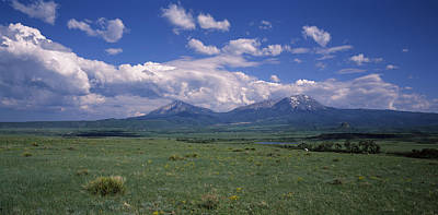 Ute Photograph - Meadow With Mountains by Panoramic Images