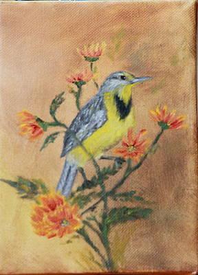Meadowlark Painting - Meadowlark by DG Ewing