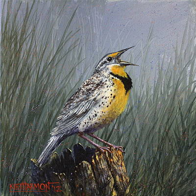 Meadowlark Painting - Meadowlark by Kirt Harmon