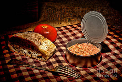 Light Lunch Photograph - Meager Lunch by Olivier Le Queinec