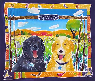 Roadrunner Painting - Mean Dogs by Harriet Peck Taylor