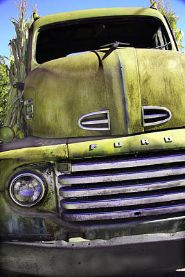 Grill Gate Photograph - Mean Green Ford Truck by Steven Bateson