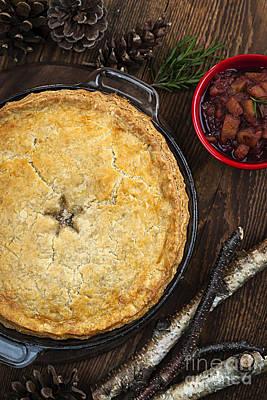 Meat Pie Tourtiere Print by Elena Elisseeva