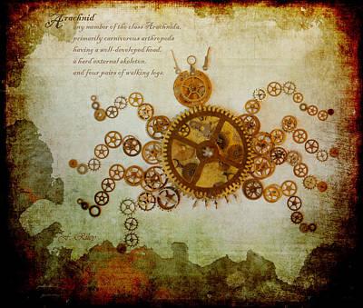 Mechanical - Arachnid Print by Fran Riley