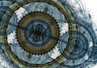 Suburban Digital Art - Mechanical Circles by Martin Capek