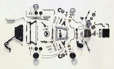 Mechanical Components Print by Dorling Kindersley/uig