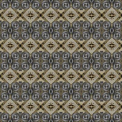 Mechanical Gears Pattern Background Print by Nenad Cerovic