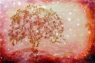Mechanical - Tree Print by Fran Riley