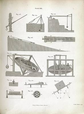 Mechanics Of Lifting Devices Print by Royal Institution Of Great Britain
