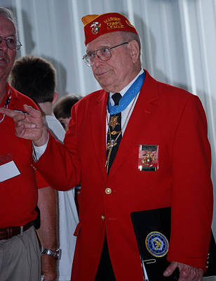 By Thomas Woolworth Photograph - Medal Of Honor Recipient by Thomas Woolworth