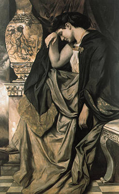 Woman Crying Painting - Medea by Anselm Feuerbach