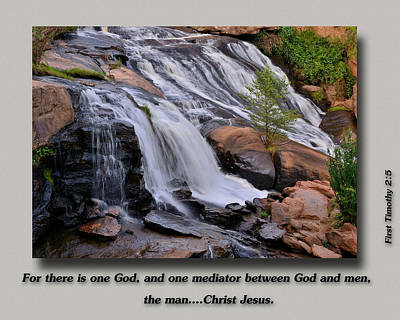 Christian Verse Photograph - Mediator by Larry Bishop
