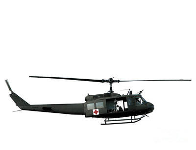 Medic Helicopter Print by Olivier Le Queinec