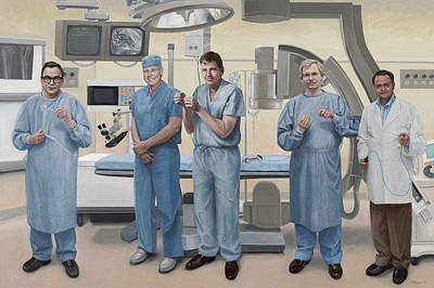 Simpsons Painting - Medical Device Pioneers Of Silicon Valley by Terry Guyer