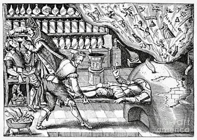 Medical Purging, Satirical Artwork Print by Spl