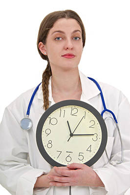 Medical Time Print by Lea Paterson