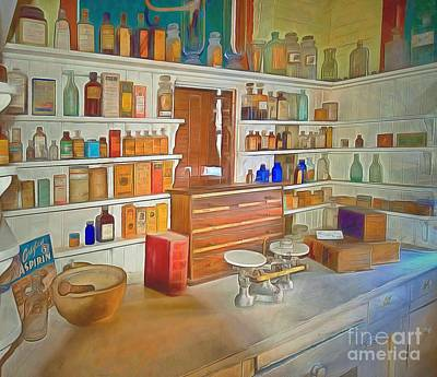 Pharmacy Painting - Medicine And Its Cures  by L Wright