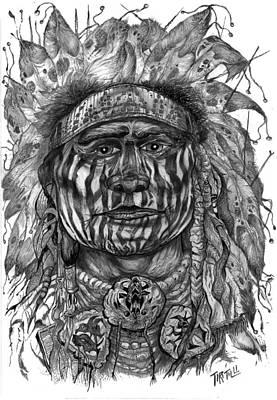 Hopi Drawing - Medicine Man by Robert Tiritilli