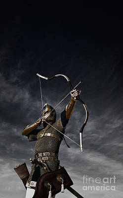 Archer Photograph - Medieval Archer II by Holly Martin